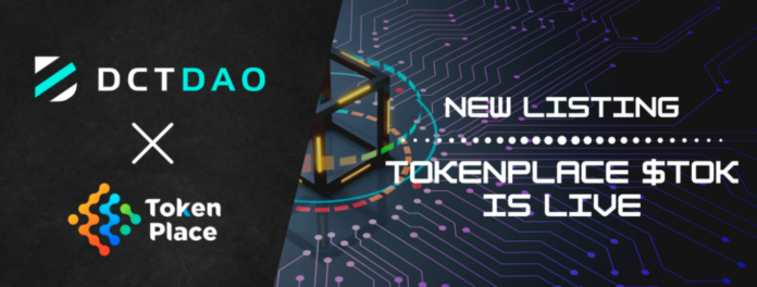Tokenplace's TOK is Now Live for Swap on DCTDEX on DWETH/TOK Pair